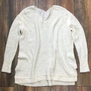 FP Cream White Thin Alpaca Oversized Sweater Sz L